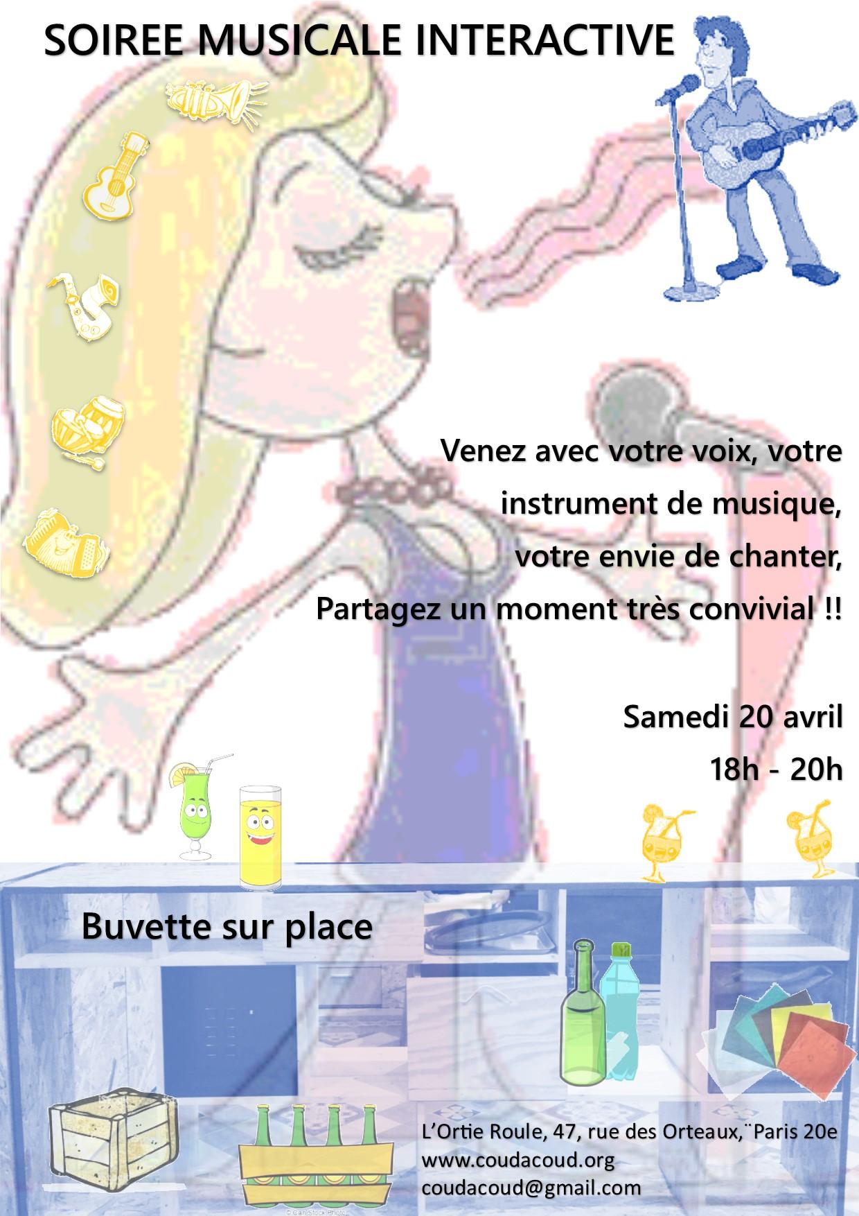 Soirée musicale interactive @ L'Ortie Roule