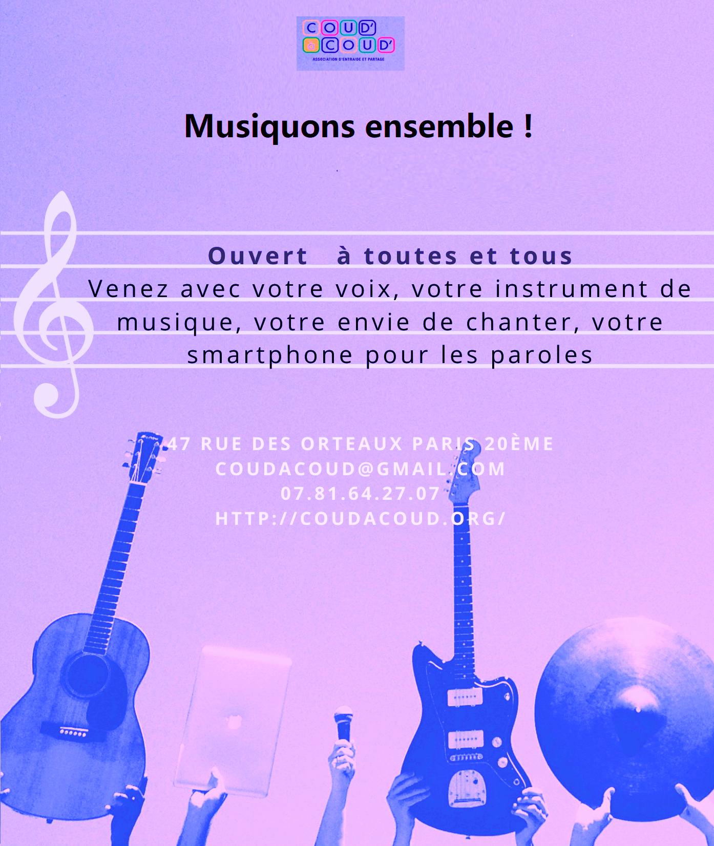 Annulé/musiquons ensemble ! @ L'Ortie Roule