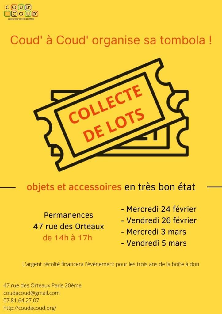 Tombola - Collecte de lots @ L'Ortie Roule